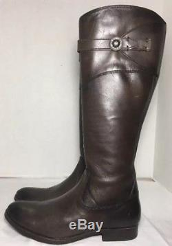 NEW Women's Frye'Molly Button' Knee High Leather Riding Boots SZ 7.5B Dark Grey