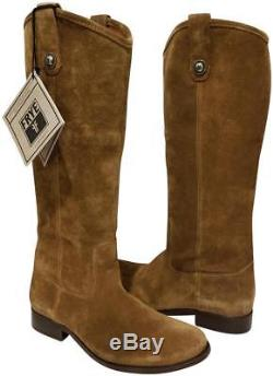 NEW womens sz 10 FRYE MELISSA BOOTS SUEDE BUTTON RIDING BROWN / CASHEW