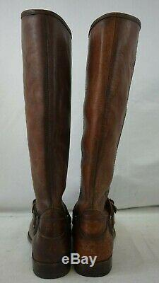 NIB FRYE Women's Phillip Ring Tall Leather Riding Boots Brown Size 9M
