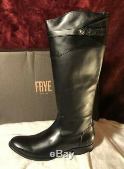 NIB Frye Molly Button Tall Black Leather Womens Riding Boot-Very Rare Size 13M
