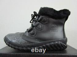 NIB Womens Sorel Out N About Plus Lux Waterproof Shoes Fashion Boots Black
