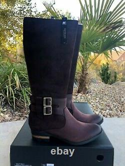 NWB Sorel Lolla Tall Riding Boot 8.5 Cattail Black New Knee Casual Waterproof
