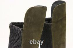 NWD $3495 Brunello Cucinelli Suede Riding Boot WithMonili Bead Knit Sz 37/7US A181