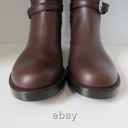 NWOB Gianvito Rossi Brown Leather Riding Boots/Shoes Size 39