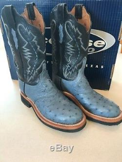 NWOT LUCCHESE WOMENS Blue 8 1/2 cowgirl boots, crêpe soul