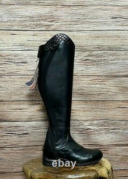 NWT Ariat Women's Vortex S Tall Riding Boot Size 9 Tall/Full -BLACK Leather