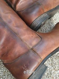 NWT Frye Melissa Button Riding Boots Cognac Womens Size 11 Brown