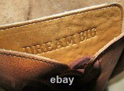 New Ariat Sawyer Brown Leather Tall Lace Knee High Riding Boots Womens Size 9