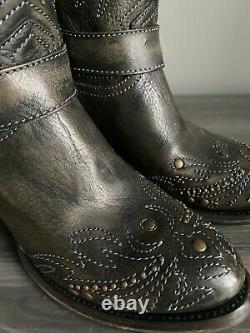 New BLACK womens ladies fashion riding western boots sample sale! Size 7