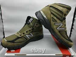 New Balance 990V4 MO990FL4 Mid Olive Green Size 10.5 Army Suede Boot Made in USA