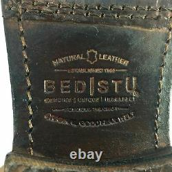 New Bed Stu 2267 Brown Leather Perforated Zip Corset Womens Riding Boots Sz 7.5