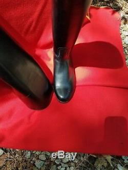 New E Vogel Besoke Inc. Dressage Riding Boots-leather- Size 9 Black- Pull On