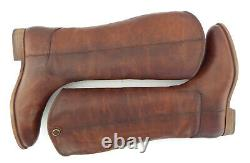 New FRYE Size 10 MELISSA BUTTON 2 Cognac Brown Tall Riding Style Boots