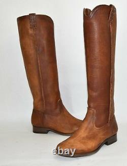 New! Frye Cara Tall Boot Cognac Leather Size 7 B 3478328