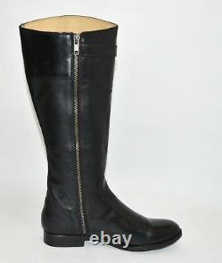 New Frye Molly Knee High Boot 3476111 Black Leather Tall Riding Boot Sz 8.5 T24