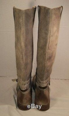 New Frye Women's Stone Leather Shirley Plate Riding Boots Woman's Size 10