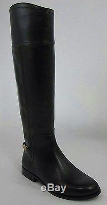 d7024c591c86a4 New Tory Burch Jess Tall Riding Size 10 M Black Leather Women s Knee High  Boots