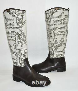 New! Tory Burch Kensington Riding Knee High Boot Brown Leather Size 9