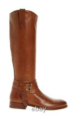 New in Box $398 FRYE Melissa Knotted Tall Whiskey Leather Riding Boot Size 9