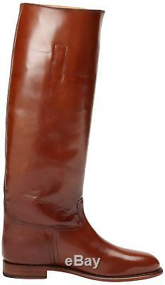 New in Box FRYE Womens Abigail Riding Polished Boot Whiskey Size 6 MSRP $ 698
