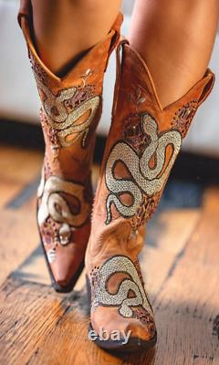 Old Gringo Currie Snake Boots Brass