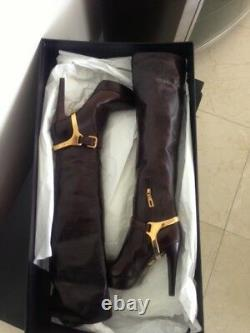 PRADA Leather Boots, authentic, new with box, size 38.5