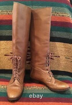 RALPH LAUREN COLLECTION Leather Equestrian Horse Riding Field Boot RARE! ITALY