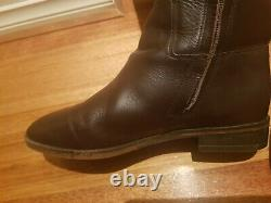 RM Williams Knee High Riding Boots Size 9 Chocolate Brown