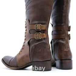 Rare $350 Sz 8 Freebird By Steven Saddle Brown Distressed Riding Tall Boots