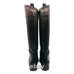 Scanlan & Theodore chocolate brown knee high leather boots sz 38