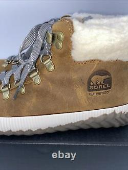 Sorel Out N About Plus Conquest Waterproof Boot Elk Brown Size 8.5 Womens