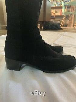 Stuart Weitzman Womens Tall Knee High Riding Boots Black Suede Size 7