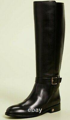 TORY BURCH Brooke Black Calf leather Knee High Boots, size 6.5US/4UK RRP-£700
