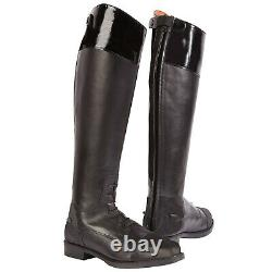 Toggi Unisex Cayman Equestrian Long Full Length Leather Horse Riding Boots New