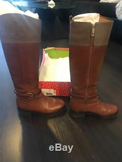 Tory Burch Daniella Women Boots Knee Riding Leather Brown Shades Zise 6M
