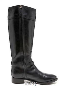 Tory Burch Eloise Leather Riding Boots Black Women Size 8M 1085