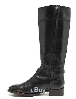 Tory Burch Eloise Leather Riding Boots Black Women Size 9M 1084