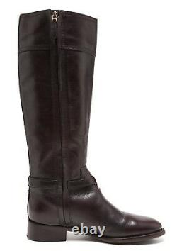 Tory Burch Eloise Leather Riding Boots Dark Brown Women Size 7M 1013