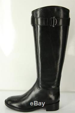 1d5dfd6aad2 Tory Burch Grace Black Leather Riding Boots Size 7 Tall Womens Shoes ...
