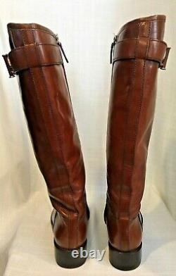 Tory Burch Grace Size 9M Sienna Brown Leather Riding Boots
