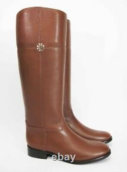 Tory Burch Jolie Riding Boot Tumbled Leather Rustic Brown 229 Size 7.5