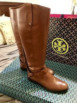 Tory Burch Leather Colton Riding Boots Size 7.5