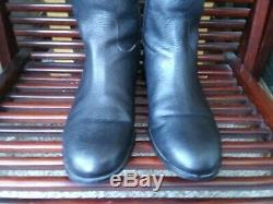 Tory Burch Logo Tall Riding Womens Equestrian Boot size 11 Logo black Leather