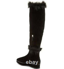 Tory Burch Marcel Boots Genuine Shearling Fur Lined Wedge Tall Knee Booties 9