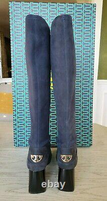 Tory Burch Sydney Mid Heel Tall Riding Boots size 8, $550