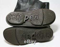 Trippen Shoes Mexico Dark Brown Leather Boots Pull On Germany 38 $450