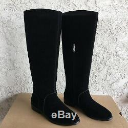 UGG Daley / Gracen Black Suede Equestrian Riding High Tall Boot Size 9 Womens
