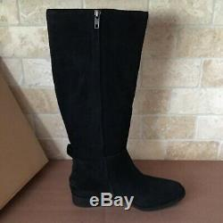 UGG Leigh Black Suede Equestrian Riding Knee High Zip Tall Boots Size 10 Womens