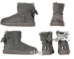 UGG Women's Customizable Bailey Bow Mini Boots Black Chestnut Pink Char Red