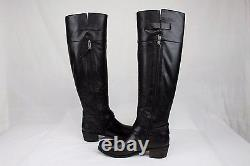 Ugg Bess Tall Black Leather Riding Heel Boots Size 9 Us